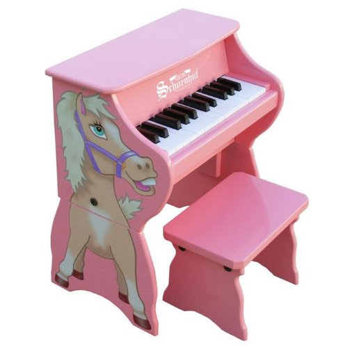 cute pink horse piano