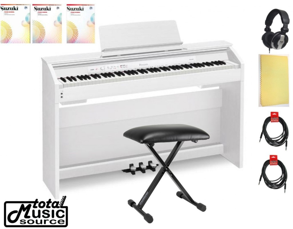 white casio digital piano privia home bundle