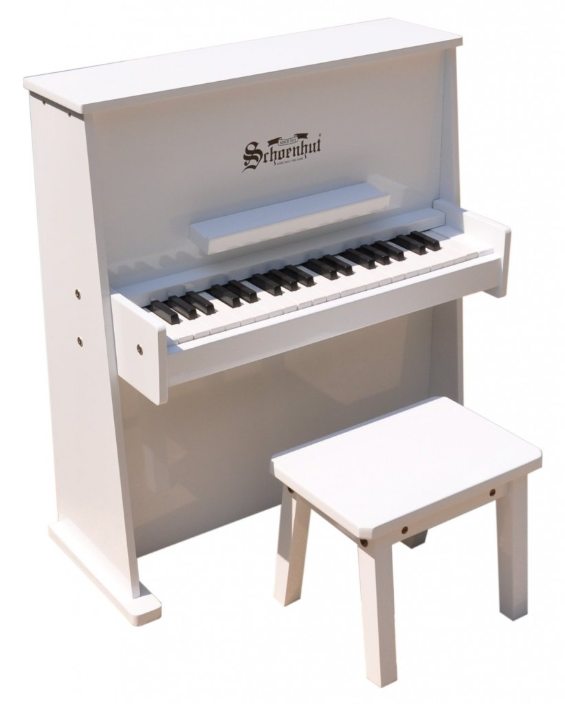 White Toddler Piano