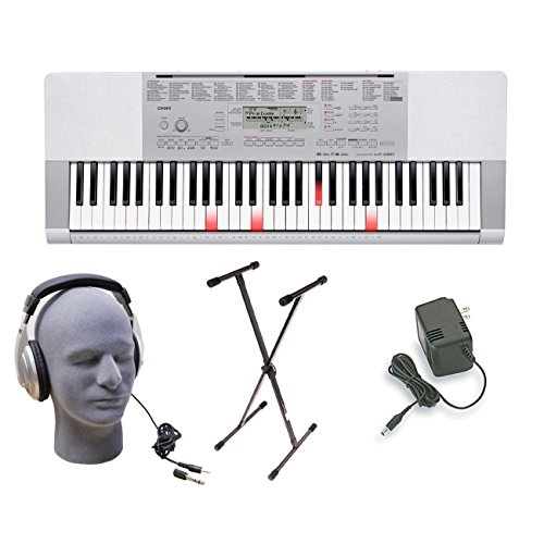 Casio LK280 Lighted Keys Keyboard Bundle