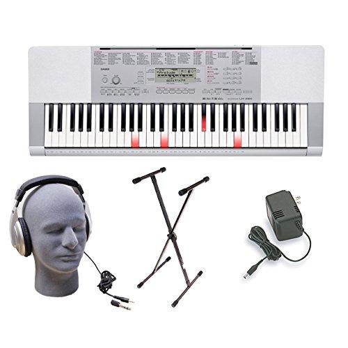Casio LK280 Lighted Keys Keyboard Bundle