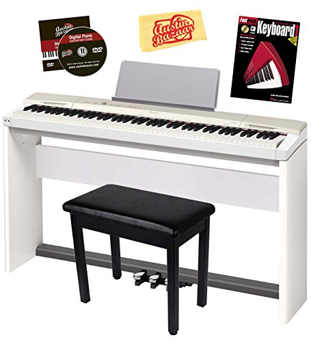 Beautiful White Casio Privia 88-Key Digital Piano Bundle